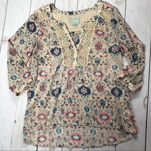ANTHRO | MAEVE | Viola Floral Tunic | Size 6
